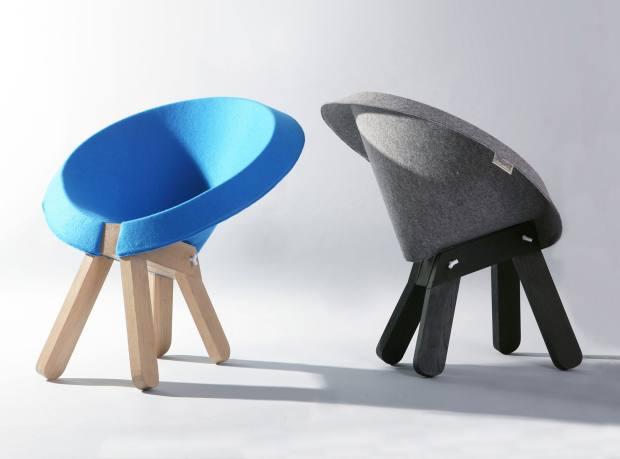 Zaza chair (€1,250) designed by Omri Barzeev.