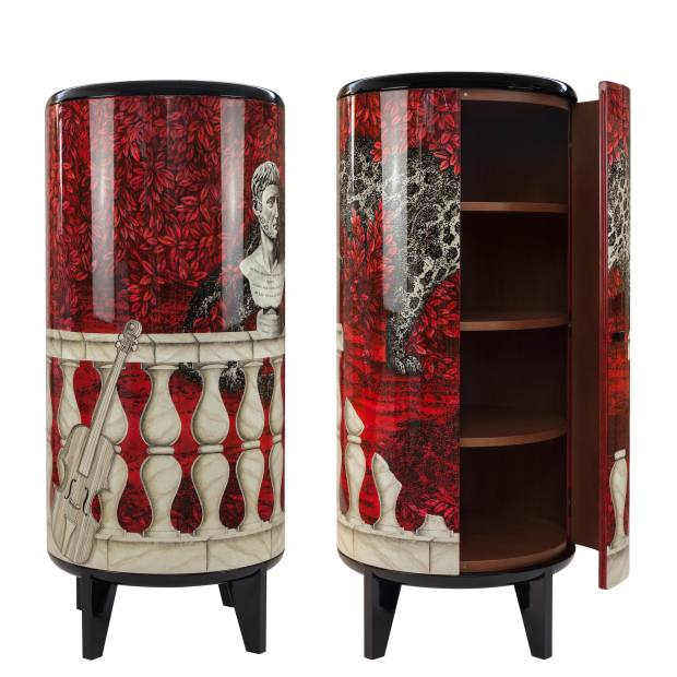 Lacquered woodCilindro cabinet, £17,700