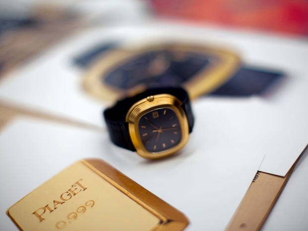 A Piaget watch that belonged to Andy Warhol and went onshow at Annabel's aspart of a collaboration with Pittsburgh's Andy Warhol Museum
