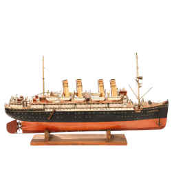 Malcolm Forbes' Märklin model of the Lusitania was sold for $194,500.