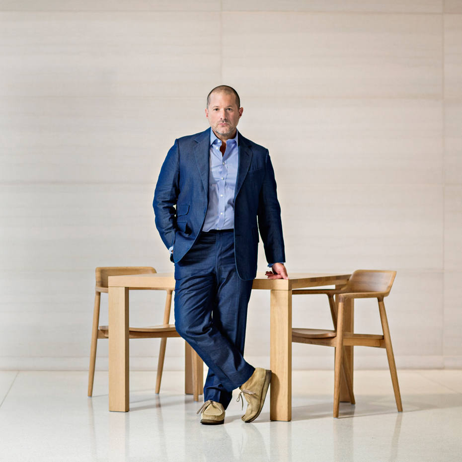 Apple senior vice president of design Jonathan Ive at Cafe Alves at the Apple HQ in Cupertino, California