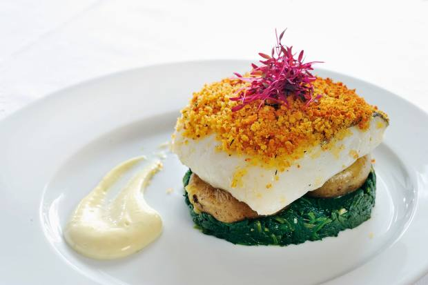 Its dishes include bacalhau confitado, prepared by its young female Brazilian chef Michele Marques
