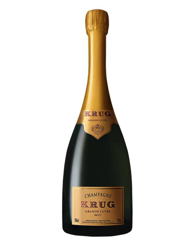 The Krug Grande Cuvée Brut champagne Ferretti keeps in her fridge