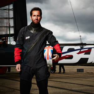 Ben Ainslie with BAR's T1 foiling AC45 catamaran