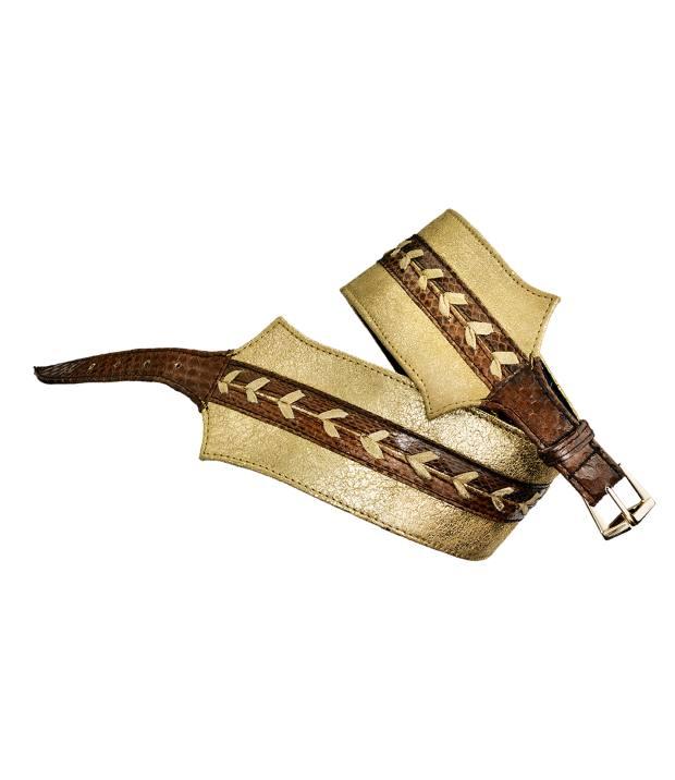 JLynch lambskin and watersnake Kristin belt, £155