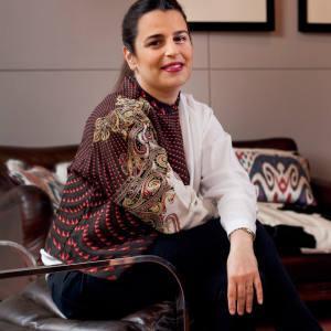 Veronica Etro in her Milan office
