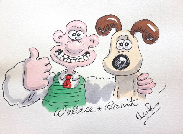 Wallace and Gromit illustration by Nick Park