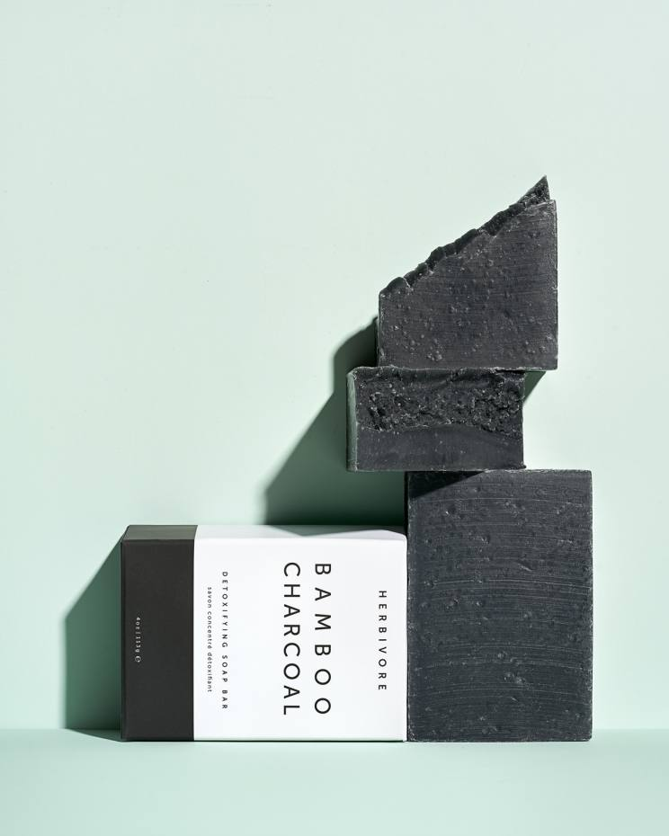 Herbivore Botanicals Bamboo Charcoal cleansing bar, £10, from spacenk.com