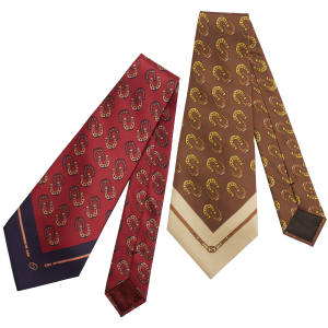Gucci shantung silk ties, £260 each