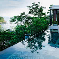 A villa at the Anantara Layan Phuket Resort, adjacent to Sirinat National Park