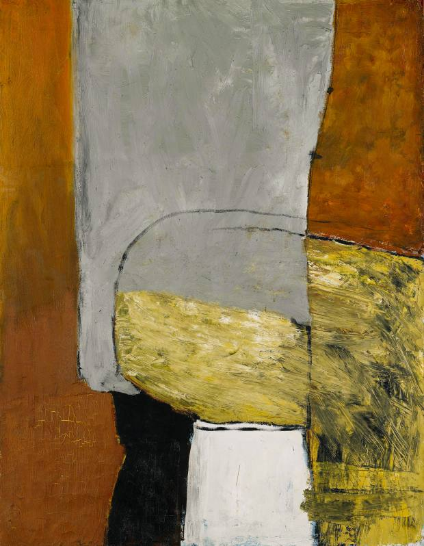 October 1955 by Roger Hilton was sold for £103,250 at Sotheby's.