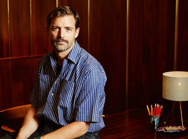 E Tautz owner and creative director Patrick Grant, in a cotton Whitby shirt, £295