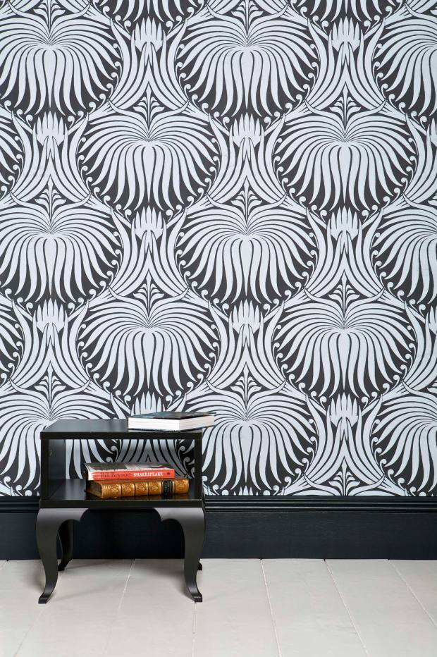 Farrow & Ball Lotus wallpaper, £112 for a 10m roll