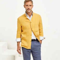 P Johnson linen shirt jacket, $495