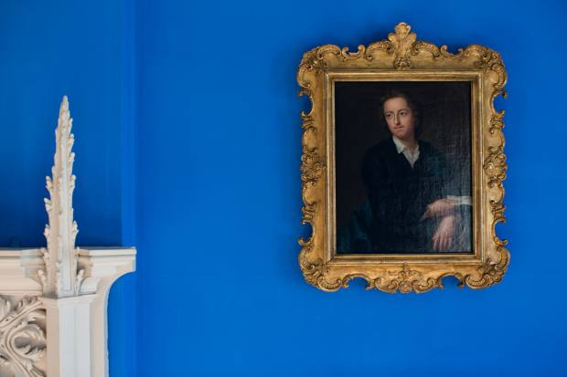 Historic-paint specialist Pedro da Costa Felgueiras used Blue Verditer in a gothic-revival villa
