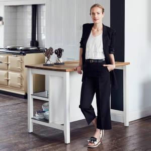 Polly Morgan at home in London