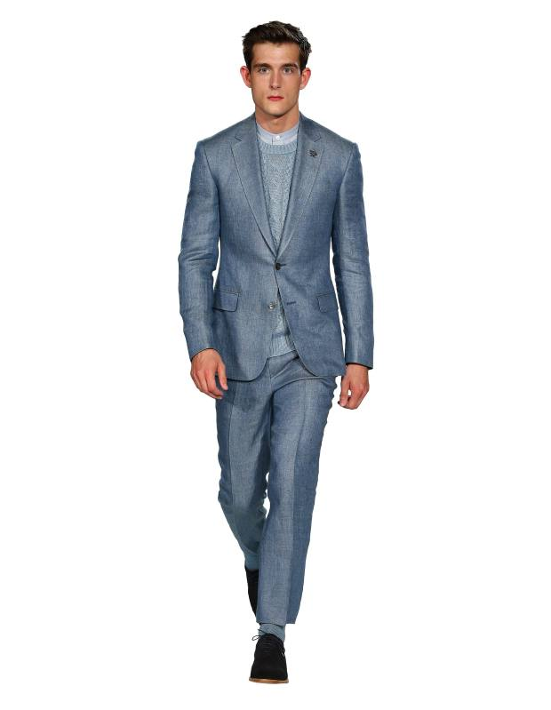 Gieves & Hawkes linen jacket, £595, and matching trousers, £195