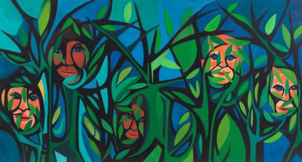 Hide Little Children, $300,000, from the American People Series#15, by Faith Ringgold