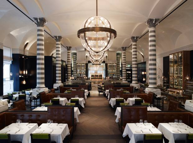 Massimo Riccioli is the chef at Massimo Restaurant & Oyster Bar, designed by David Collins.