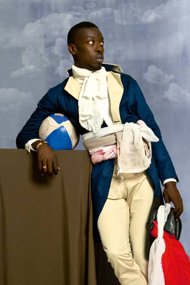Omar Victor Diop casts himself as Jean-Baptiste Belley, the first black deputy of the French government
