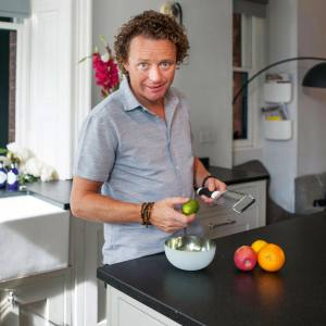 Tom Kitchin with his Microplane grater