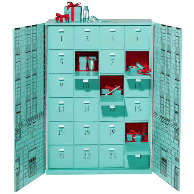 Tiffany & Co's first-ever advent calendar, £104,000, contains 24 precious gifts
