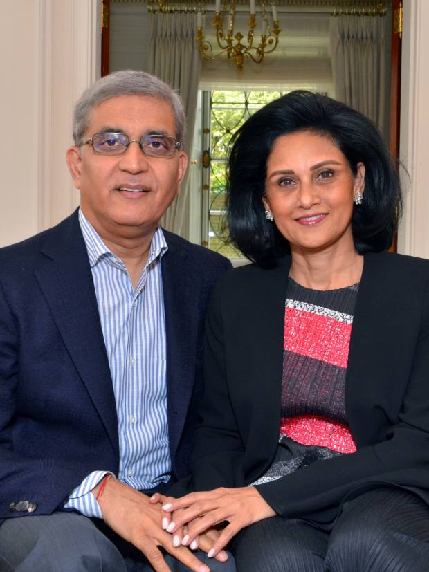 Apurv and Alka Bagri run the London‑based Bagri Foundation, which supports causes such as culture, education, health and poverty relief