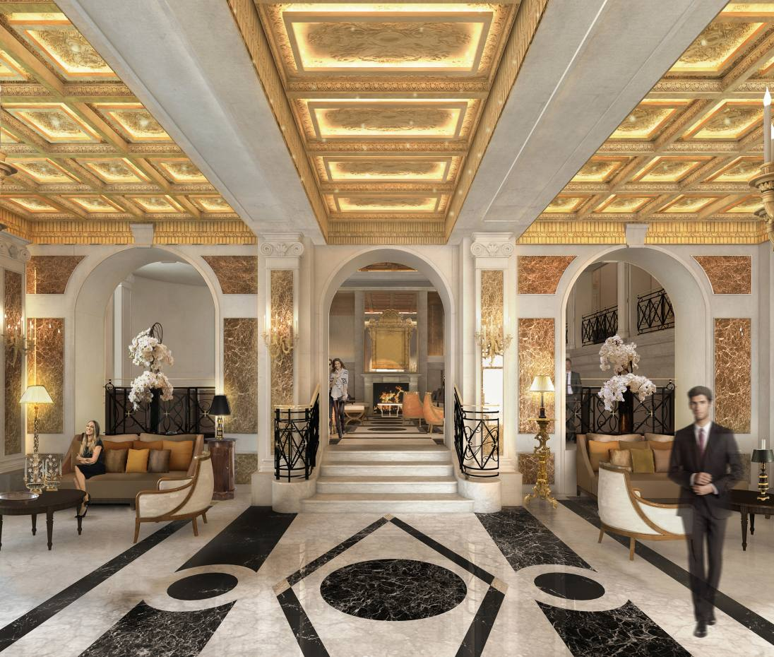 The lobby ofRome's iconic HotelEden, which isreopening after a 17-month renovation