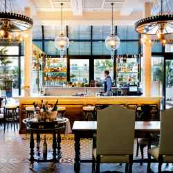 The characterful Batuar bar at the Cotton House, Barcelona, part of Marriott's Autograph Collection