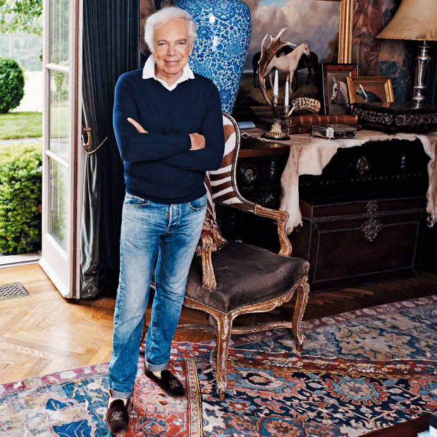 Ralph Lauren at home in Westchester County,  New York