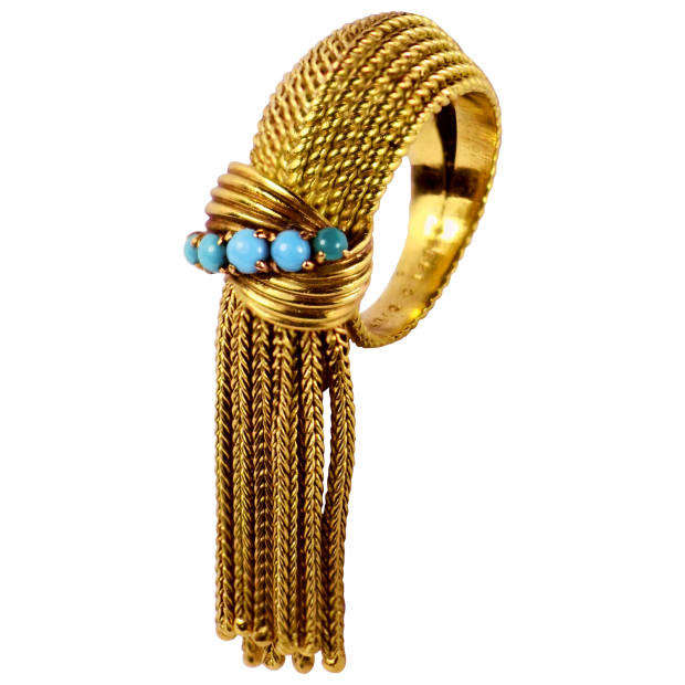 1950s Mellerio gold and turquoise ring, $3,457, from 1stdibs