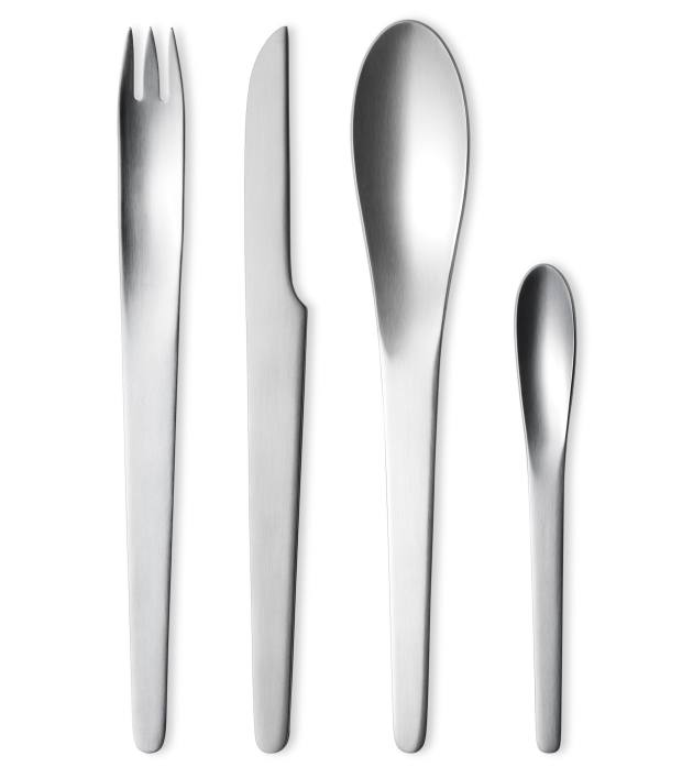Arne Jacobsen for Georg Jensen cutlery, as seen in 2001: A Space Odyssey, about £245 for a 24-piece set