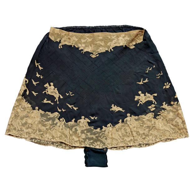1930s silk-chiffon and lace knickers