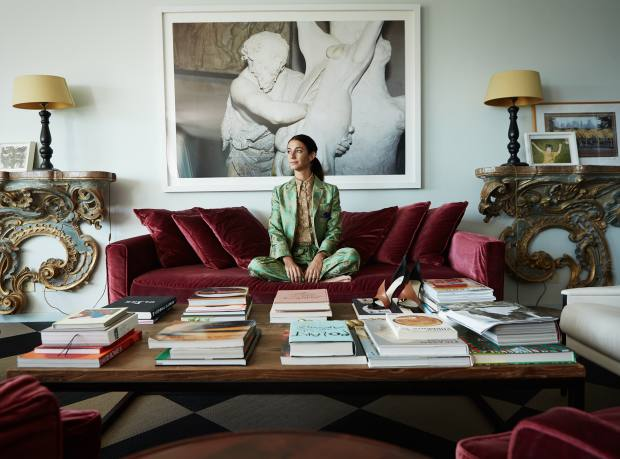 Marie-Louise Sciò, creative director of Pellicano hotels, at home in Rome