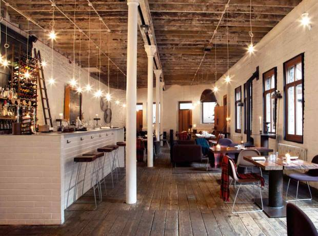 Timberyard restaurant has a modern industrial feel