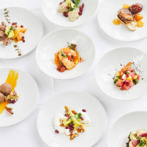 Le Zyriab's menu features a seasonal rotation of classics from Arab League countries