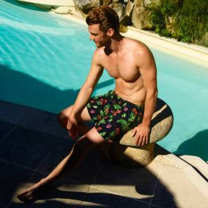 Vilebrequin embroidered polyamide Pixel Flowers swim shorts, £540