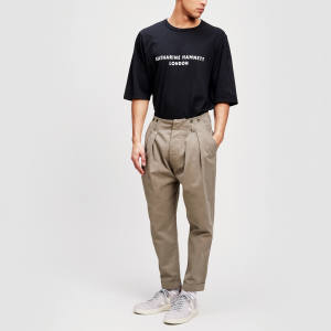 Katharine Hamnett cotton drill trousers, £275