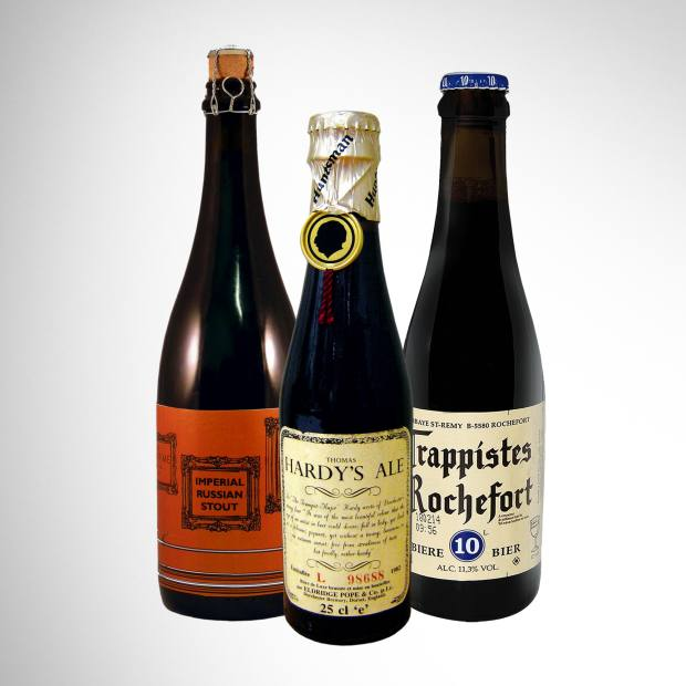 Meantime Brewery's first College Beer Club brew. Thomas Hardy's Ale, vintage 1982, sells for around £15. Trappistes Rochefort 10, £4.40 for 330ml.