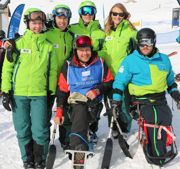 Teams of four will compete in a ski marathon and a giant slalom
