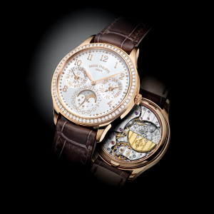 Patek Philippe rose gold and diamond Ladies First Perpetual Calendar, £71,190