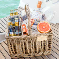 Salcombe Gin offers a gin butler who will arrive at your boat by a high-speed RiB and prepare drinks on board, £500