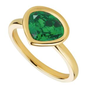 Mila gold and emerald ring, $4,800, from www.marinab.com. www.gemfields.co.uk