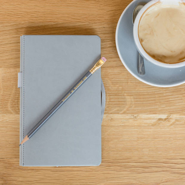 Blackwing 602 Slate Notebook with 602 pencil, £35