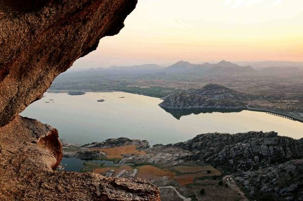 The striking rock formations at Jawai are 850m years old