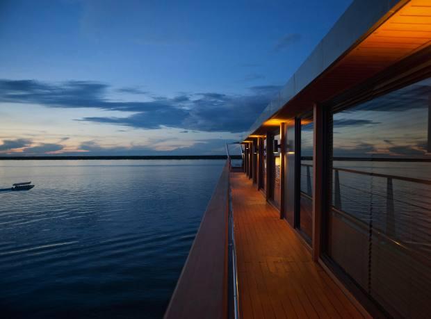 An observation deck aboard Aqua Mekong