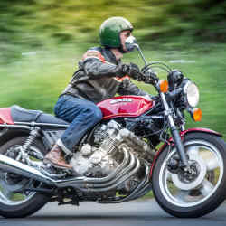 A Honda CBX1000 – an original 1978 model, worth about £25,000, is predicted to soon reach £100,000