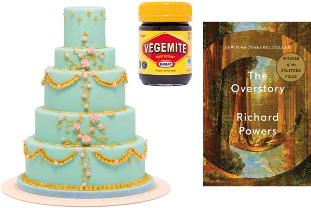 A tiered cake from Marchesi 1824. Vegemite, a favourite with champagne. McCormack's best read this year