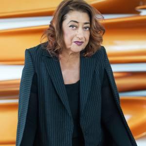 Zaha Hadid at her gallery