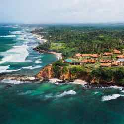 An aerial view of Cape Weligama